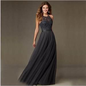 Popular Grey Chiffon Halter Neck Dress-Buy Cheap Grey ...
