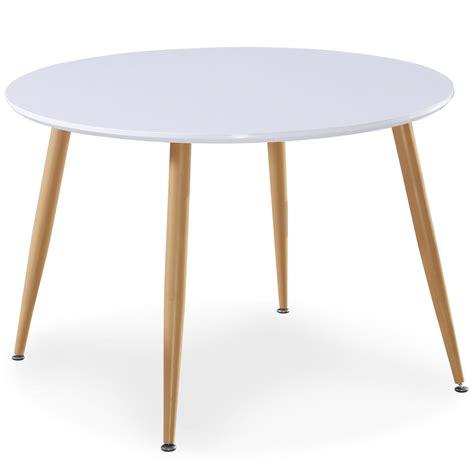 table extensible de style scandinave table ronde scandinave lola blanc table de repas table table basse