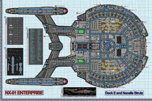 colored schematic of deck e columbia class starship u s