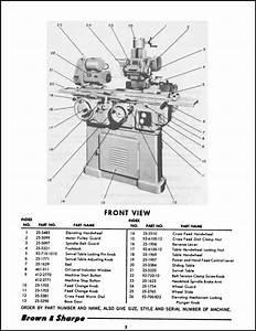 Brown  U0026 Sharpe No  13 Grinder Parts Manual Exploded View