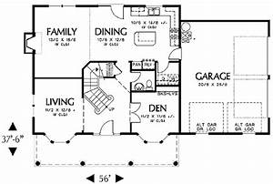 Colonial Style House Plan 4 Beds 250 Baths 2000 SqFt