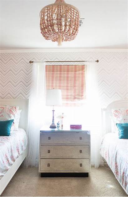 Bedroom Chevron Curtains Serena Lily Roman Bedside