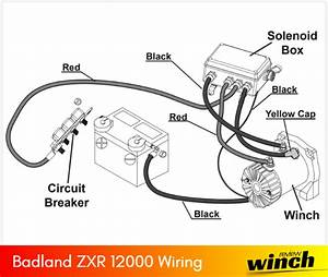 Badland Winches Parts Wiring Diagram  For All Models
