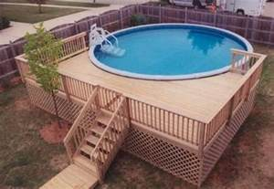 Small Round Above Ground Pool Deck Ideas
