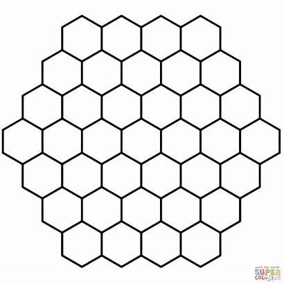 Honeycomb Hexagon Printable Coloring Tessellation Hexagonal Patterns