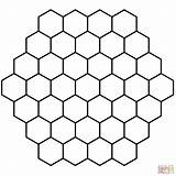 Coloring Pages Honeycomb Hexagon Printable Tessellation Bee Pattern Template Honey Patterns Comb Printables Drawing Stencil Tessellations Abeille Outline Colouring Print sketch template