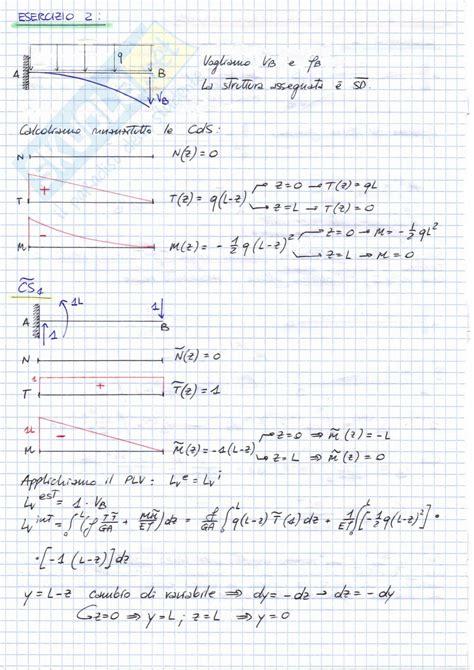 dispense scienza delle costruzioni plv e linea elastica esercitazione di scienza delle