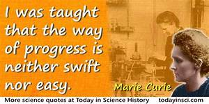 Marie Curie Quo... Importance Of Progress Quotes