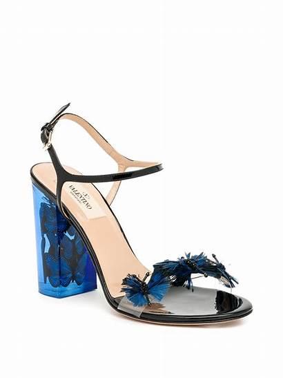Butterfly Lucite Sandals Valentino Heel Dark Shoes
