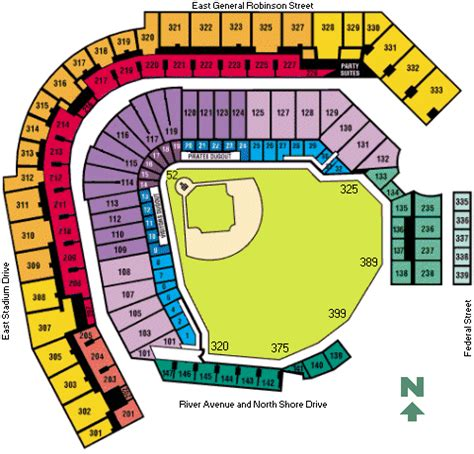 pnc park seating chart game information