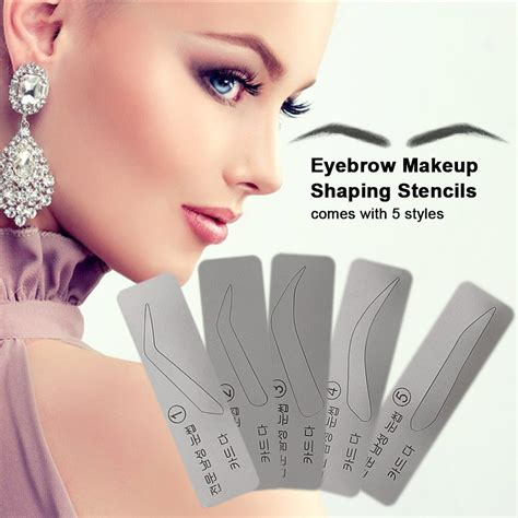 Shop with afterpay on eligible items. Eyebrow Makeup Shaping Stencils Eyebrow Drawing Grooming ...
