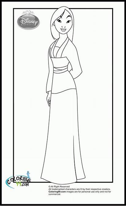 Mulan Coloring Disney Princess Pages Printable Adult