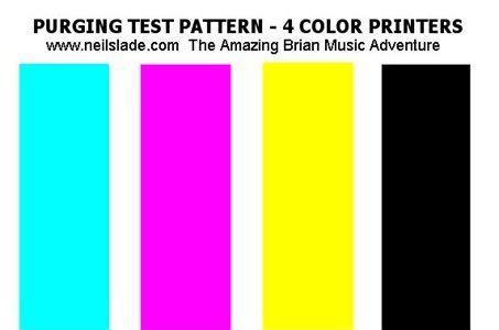 yellow ink  printing  testing print quality