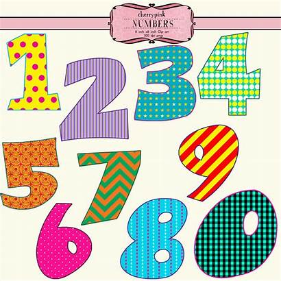 Number Numbers Clipart Clip Numeral Cliparts Fancy