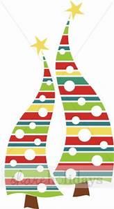 Modern Christmas Trees Clipart | Christmas Clipart
