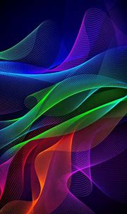 800x1280 Colorful lines, abstract, Razer Phone, stock ...