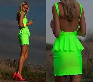 Neon cocktail dresses