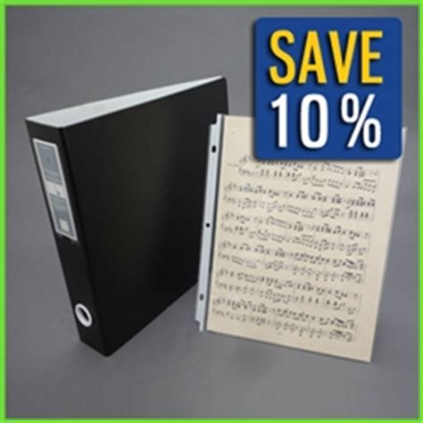sheet music binder with 75 clear protective 9x12 page sleeve