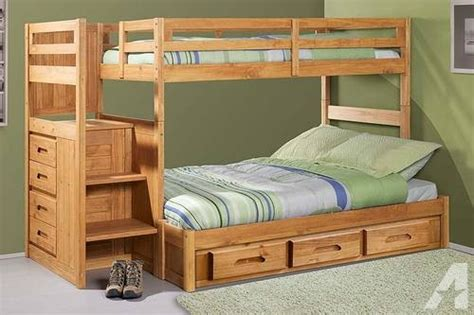 bunk bed  stairs solid wood brand   sale