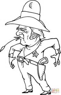 cowboy sheriff  wheat  mouth coloring page