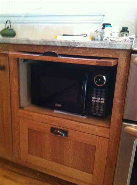 Microwave Pantry Cabinet With Microwave Insert  Home