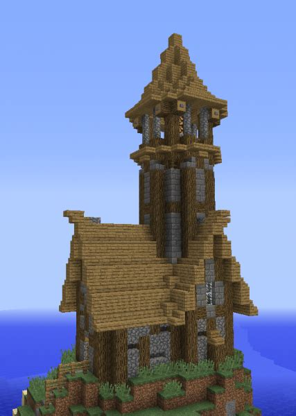 unfurnished medieval lighthouse blueprints  minecraft houses castles towers