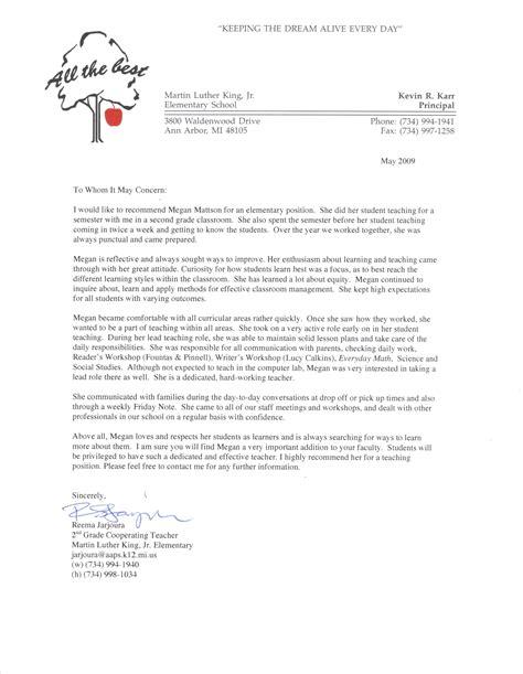student recommendation letter  teacher