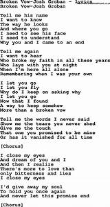 Love Song Lyric... Broken Lyrics