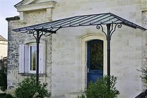 Marquise De Porte Ancienne : fabrication de marquises en fer forg ferronnerie h rault ~ Dailycaller-alerts.com Idées de Décoration