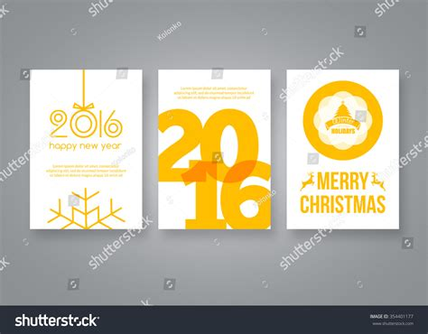 Yellow Brochure Design Vector Millions Vectors Happy New Year 2016 And Merry Vector Yellow