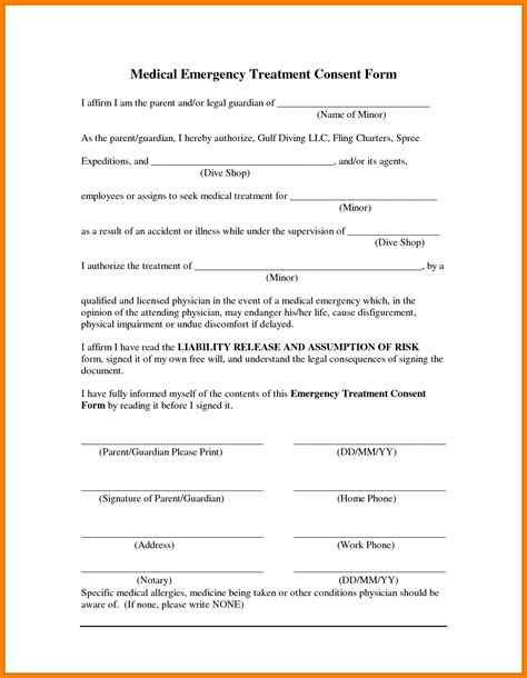 free printable medical consent form for grandparents free printable child medical consent form for grandparents