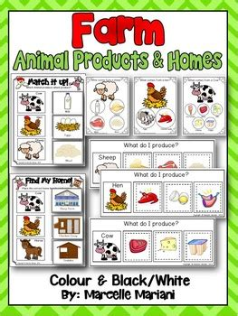 farm animals animal product  homes literacy center