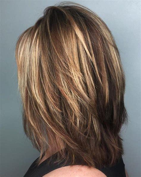 brightest medium layered haircuts  light