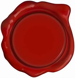 Red Wax Seal Stamp PNG Clipart   Gallery Yopriceville ...