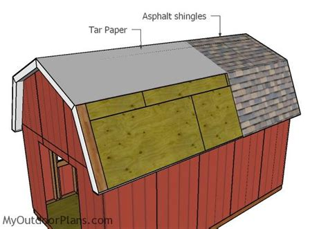 Gambrel Roof Shed Plans 12x20 by 12x20 Gambrel Shed Plans Myoutdoorplans Free