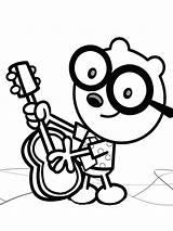 Wubbzy Wow Coloring Walden Guitar Xcolorings Printable Loves Play Raskrasil sketch template