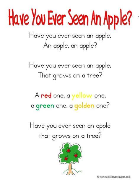 126 best poems for kindergarteners images on 893 | 1667923e48be7fe22421d4b498fb4ff2 preschool apples preschool songs