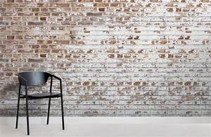 White Paint Bricks Wall Mural