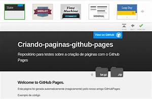 criando paginas web para seus repositorios com o github With github pages templates