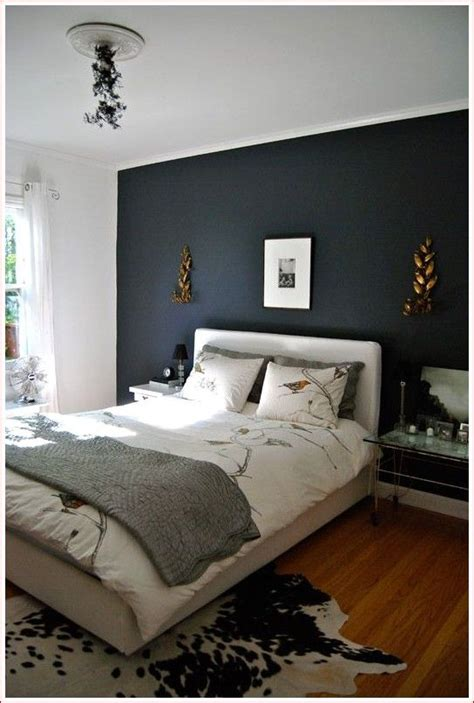 bedroom paint colors accent wall gray   blue