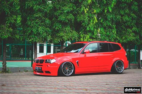 bmw stanced stanced bmw x3 e83 side