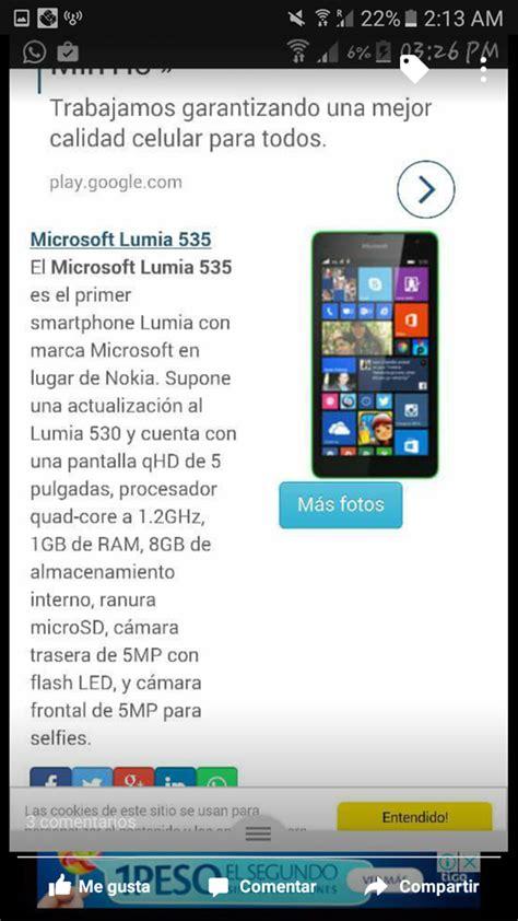 lumia 535 quisiera hacer llamadas por messenger