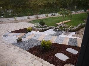 pave notre maison ossature bois With amenagement de petit jardin 8 paillage bois et ardoise pour amenagement exterieur et