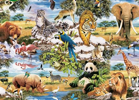 wilde tiere  teile king international puzzle
