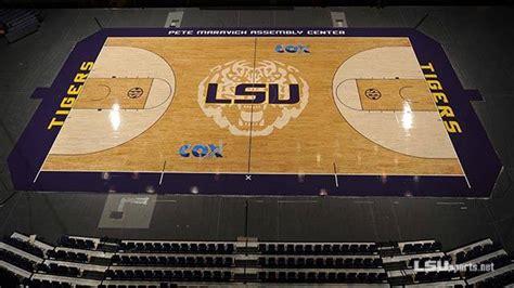 lsu finishes  basketball court design sports floors