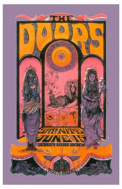 Concert Poster Doors 1970 Sacramento Posters Memorial