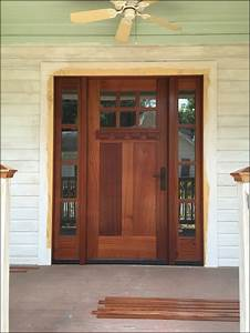 Craftsman, Style, Door, With, Sidelight
