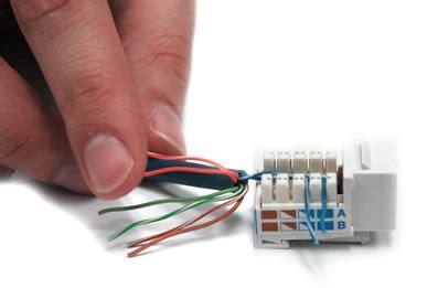 Ethernet Keystone Wiring by How To Wire Keystone