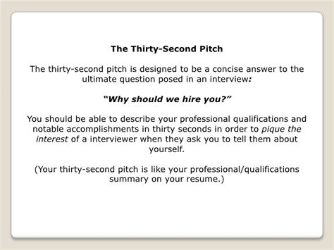 Pitch Deck Resume by Interviews