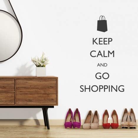 wandtattoo spruch  calm   shopping
